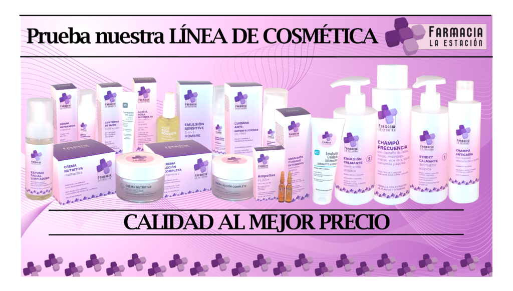 Nuestra línea de cosmética Farmacia La Estación
